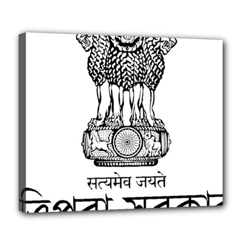 Seal Of Indian State Of Tripura Deluxe Canvas 24  X 20   by abbeyz71