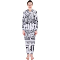 Seal Of Indian State Of Tripura Hooded Jumpsuit (ladies)  by abbeyz71