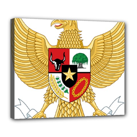 National Emblem Of Indonesia  Deluxe Canvas 24  X 20   by abbeyz71