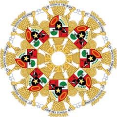 National Emblem Of Indonesia  Hook Handle Umbrellas (medium) by abbeyz71