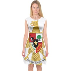 National Emblem Of Indonesia  Capsleeve Midi Dress by abbeyz71