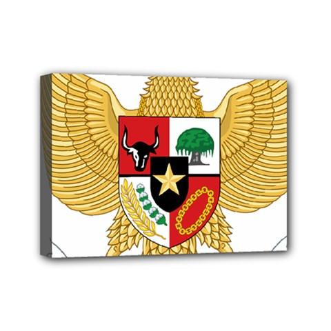 National Emblem Of Indonesia  Mini Canvas 7  X 5  by abbeyz71
