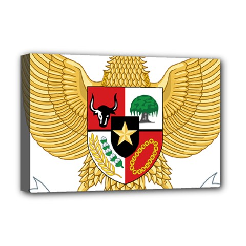 National Emblem Of Indonesia  Deluxe Canvas 18  X 12   by abbeyz71