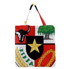 Shield Of National Emblem Of Indonesia Grocery Tote Bag by abbeyz71