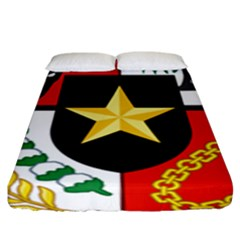 Shield Of National Emblem Of Indonesia Fitted Sheet (king Size) by abbeyz71