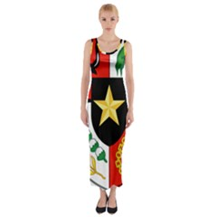 Shield Of National Emblem Of Indonesia Fitted Maxi Dress by abbeyz71