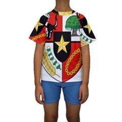 Shield Of National Emblem Of Indonesia  Kids  Short Sleeve Swimwear by abbeyz71