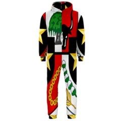Shield Of National Emblem Of Indonesia  Hooded Jumpsuit (men)  by abbeyz71