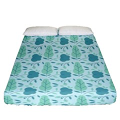Seamless Floral Background  Fitted Sheet (queen Size) by TastefulDesigns