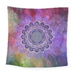Flower Of Life Indian Ornaments Mandala Universe Square Tapestry (Large)
