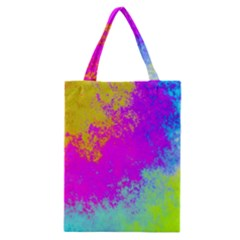 Grunge Radial Gradients Red Yellow Pink Cyan Green Classic Tote Bag by EDDArt