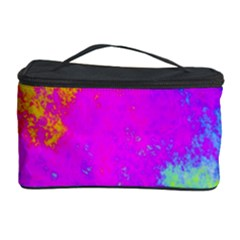 Grunge Radial Gradients Red Yellow Pink Cyan Green Cosmetic Storage Case by EDDArt