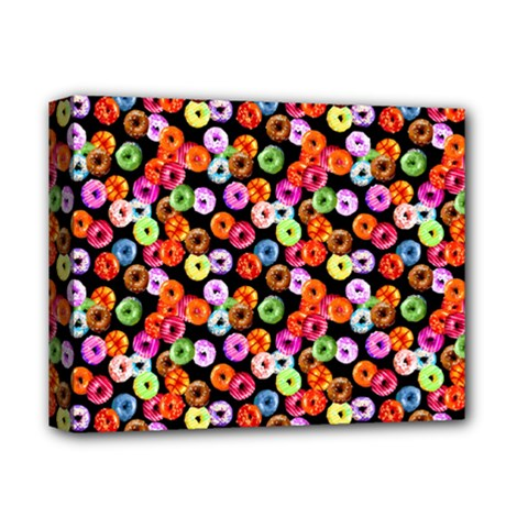 Colorful Yummy Donuts Pattern Deluxe Canvas 14  X 11  by EDDArt