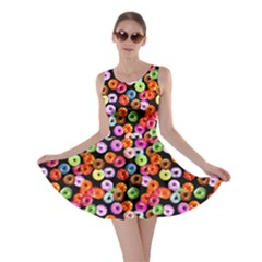 Colorful Yummy Donuts Pattern Skater Dress by EDDArt