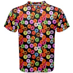Colorful Yummy Donuts Pattern Men s Cotton Tee by EDDArt