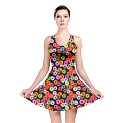Colorful Yummy Donuts Pattern Reversible Skater Dress by EDDArt