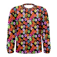 Colorful Yummy Donuts Pattern Men s Long Sleeve Tee by EDDArt