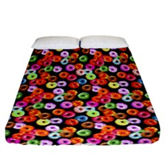 Colorful Yummy Donuts Pattern Fitted Sheet (california King Size) by EDDArt