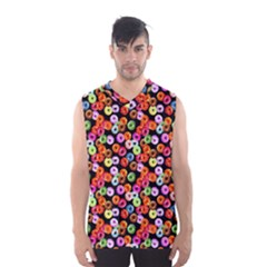 Colorful Yummy Donuts Pattern Men s Basketball Tank Top by EDDArt