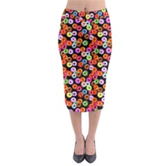 Colorful Yummy Donuts Pattern Midi Pencil Skirt by EDDArt