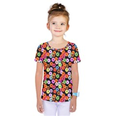 Colorful Yummy Donuts Pattern Kids  One Piece Tee by EDDArt