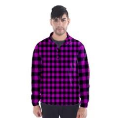 Lumberjack Fabric Pattern Pink Black Wind Breaker (men) by EDDArt