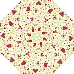 Valentinstag Love Hearts Pattern Red Yellow Straight Umbrellas by EDDArt