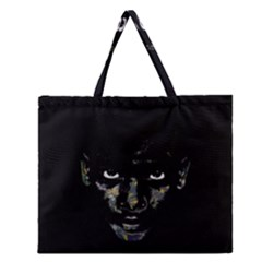 Wild Child  Zipper Large Tote Bag by Valentinaart