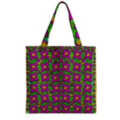 Bohemian Big Flower Of The Power In Rainbows Grocery Tote Bag by pepitasart