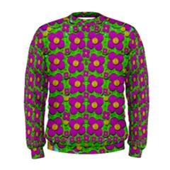 Bohemian Big Flower Of The Power In Rainbows Men s Sweatshirt by pepitasart