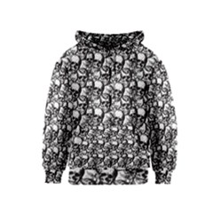 Skulls Pattern  Kids  Zipper Hoodie by Valentinaart