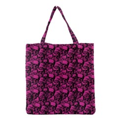 Skulls Pattern  Grocery Tote Bag by Valentinaart