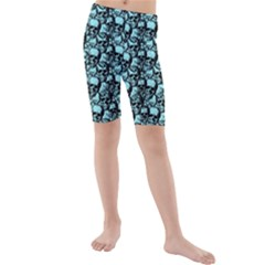 Skulls Pattern  Kids  Mid Length Swim Shorts by Valentinaart