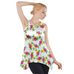 Candy Pattern Side Drop Tank Tunic by Valentinaart