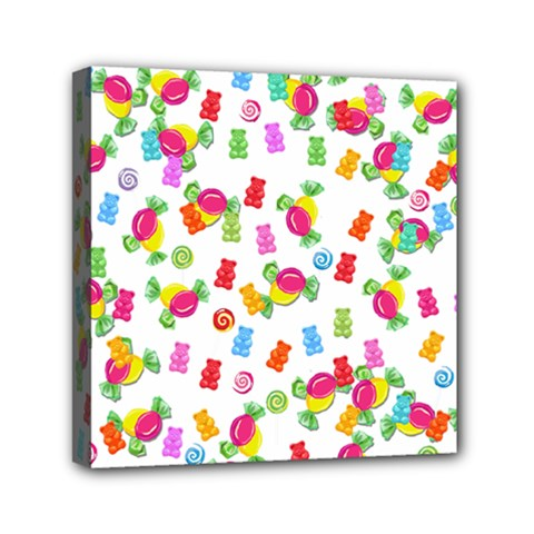 Candy Pattern Mini Canvas 6  X 6  by Valentinaart