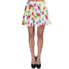Candy Pattern Skater Skirt by Valentinaart