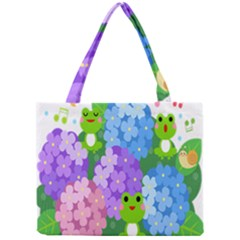 Animals Frog Face Mask Green Flower Floral Star Leaf Music Mini Tote Bag by Mariart