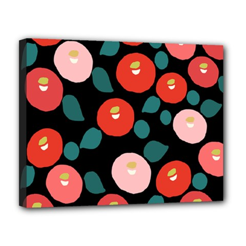 Candy Sugar Red Pink Blue Black Circle Canvas 14  X 11  by Mariart