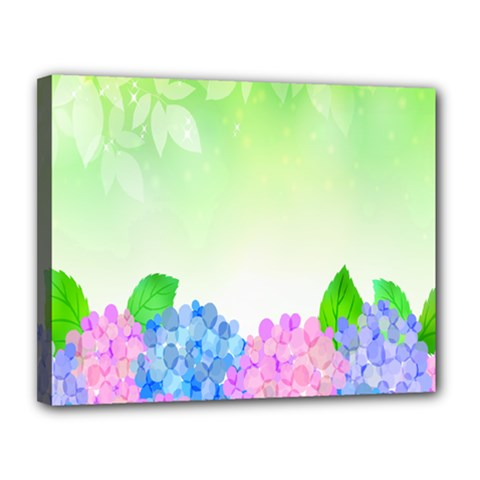 Fruit Flower Leaf Canvas 14  X 11  by Mariart