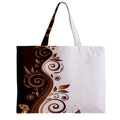 Leaf Brown Butterfly Zipper Mini Tote Bag by Mariart