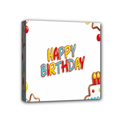 Happy Birthday Mini Canvas 4  X 4  by Mariart