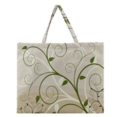 Leaf Sexy Green Gray Zipper Large Tote Bag by Mariart