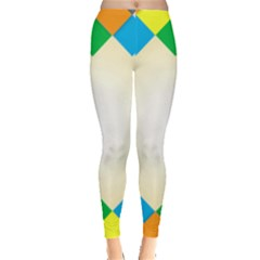 Plaid Wave Chevron Rainbow Color Leggings  by Mariart