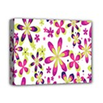 Star Flower Purple Pink Deluxe Canvas 14  x 11