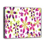 Star Flower Purple Pink Deluxe Canvas 20  x 16
