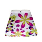 Star Flower Purple Pink Fitted Sheet (Full/ Double Size)