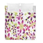 Star Flower Purple Pink Duvet Cover Double Side (Full/ Double Size)