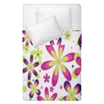 Star Flower Purple Pink Duvet Cover Double Side (Single Size)