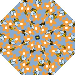 Wasp Bee Honey Flower Floral Star Orange Yellow Gray Hook Handle Umbrellas (small) by Mariart