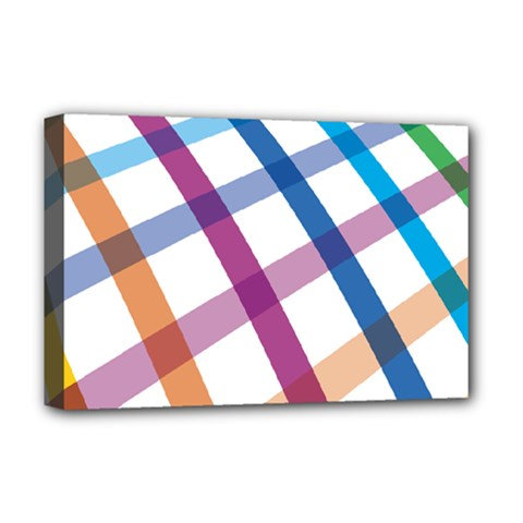 Webbing Line Color Rainbow Deluxe Canvas 18  X 12   by Mariart
